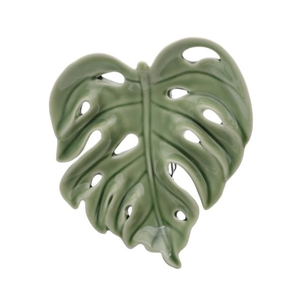Decor Cerâmica Adams Leaf 2cm 41185  Verde Urban